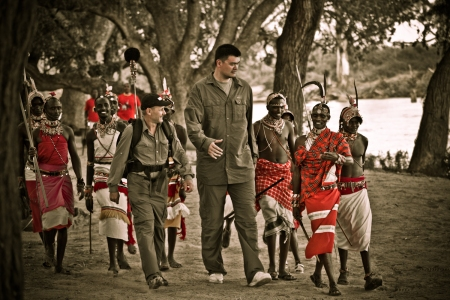 Yao Ming Arrives at Samburu Village