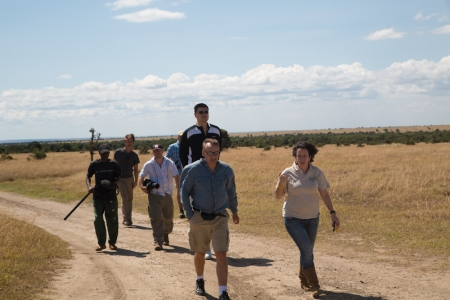 Yao Ming Tours the Ol Pejeta Conservancy