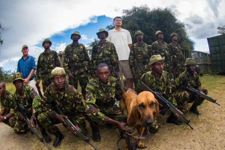 Yao Ming Hangs out with Kenya Police Reservists