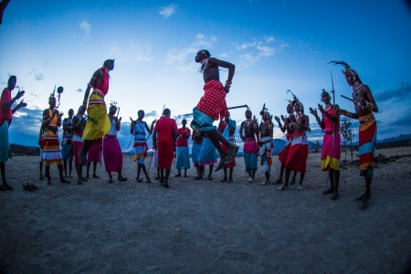 Dance of the Samburu Warriors
