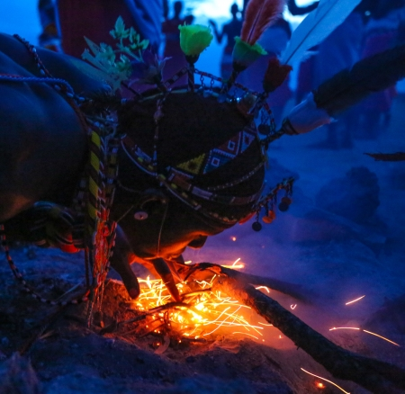 Samburu Warrior Lighting a Fire