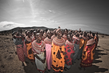 Yao Ming is Greeted by Samburu Villages Adorned with Jewelry