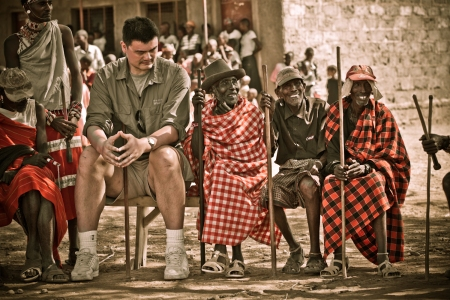 Yao Ming and Samburu Elders
