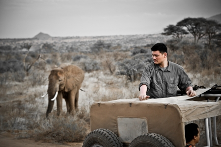 Yao Ming at Samburu Reserve