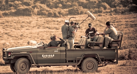 Yao Ming and a Film Crew Arrive at Kariega Game Reserve