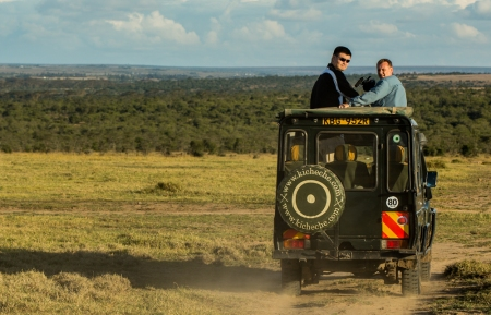 Yao Ming Drives Toward The Ol Pejeta Conservancy