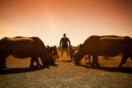 Yao Ming Meets Two Endangered Northern White Rhinos
