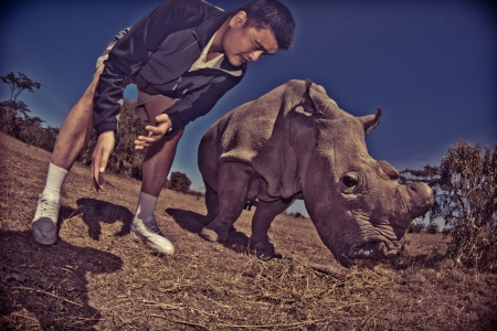 Yao Ming Meets Najin, One of the World's Remaining 7 Northern White Rhinos