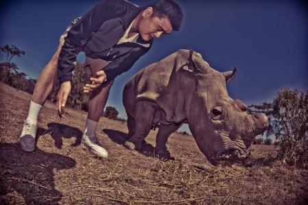 Yao Ming Meets Najin, One of the World's Remaining 7 Northern White Rhinos